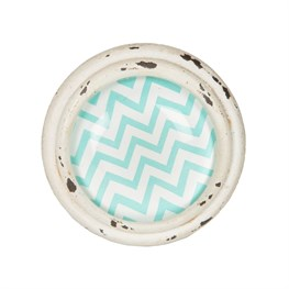 Chevron Drawer Knob Blue