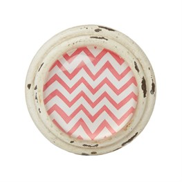 Chevron Drawer Knob Pink