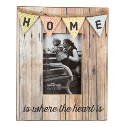 Home Rustic Bunting Photo Frame