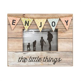 Enjoy Rustic Bunting Photo Frame