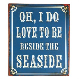 Beside the Seaside Retro Wall Plaque