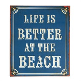 Life is Better At the Beach Retro Wall Plaque