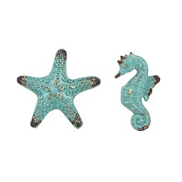 Vintage Starfish & Seahorse Drawer Knob (options available)