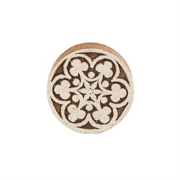 White Wood Mosaic Round Drawer Knob