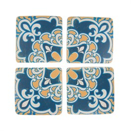 Set of 4 Mediterranean Mosaic Sicily Coasters