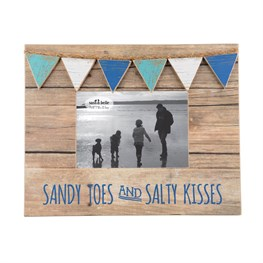 Sandy Toes & Salty Kisses Mini Bunting Photo Frame