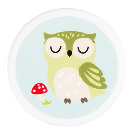 Small Round Spring Forest Owl Snack Box