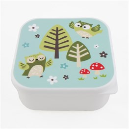 Square Spring Forest Owl Lunch Box