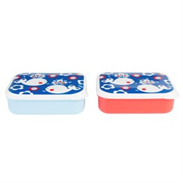 Rectangular Retro Whale Lunch Box (options available)