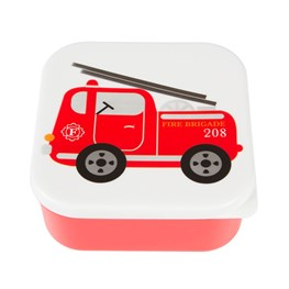 Fire Engine Square Lunch Box
