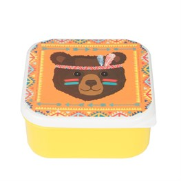 Bear Animal Adventure Square Lunch Box