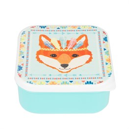 Fox Animal Adventure Square Lunch Box