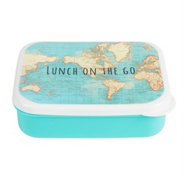 Lunch on  the Go Vintage Map Lunch Box