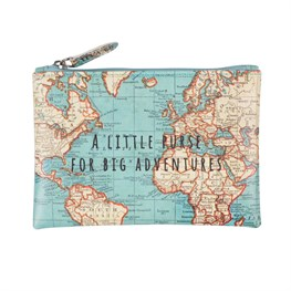 Vintage map vintage map little purse for big adventures gumiabroncs Image collections