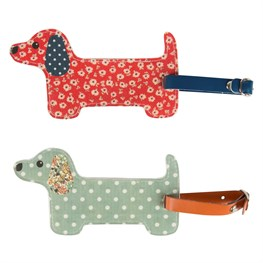 Floral Friends Dachshund Luggage Tag (options available)