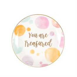 You Are Treasured Paint Splash Trinket Dish