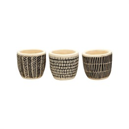 Scandi Boho Mini Cement Planters - Set of 3
