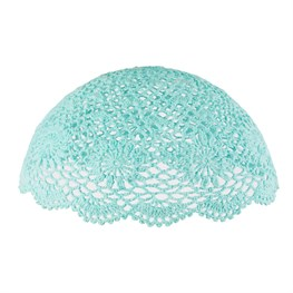 Simple Crochet Ceiling Lampshade Turquoise