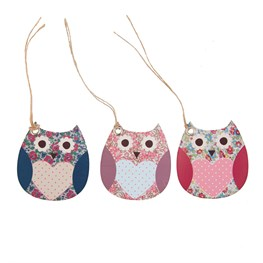 Set of 15 Floral Spring Owl Gift Tags