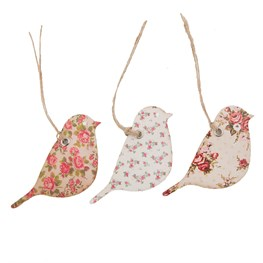 Set of 15 Vintage Rose Bird Gift Tags