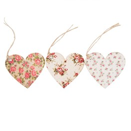 Set of 15 Heart Shaped Rose Gift Tags
