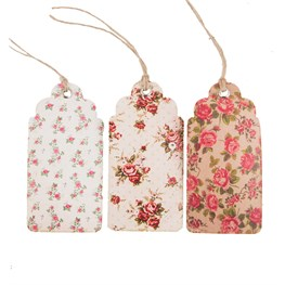 Set of 15 Vintage Rose Gift Tags