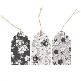 Set of 15 Parisian Floral Gift Tags