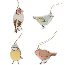 Set of 12 British Birds Gift Tags