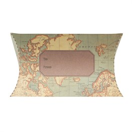 Vintage Map Pillow Gift Box