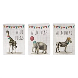Party Animals Wild Ideas Pocket Notebook  (options available)