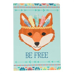 Be Free Fox Animal Adventure A5 Notebook