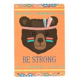 Be Strong Bear Animal Adventure A5 Notebook
