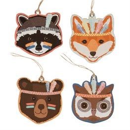 Set of 12 Animal Adventure Gift Tags