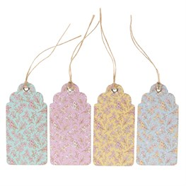 Set of 12 Grace Floral Gift Tags