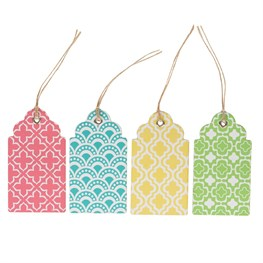 Set of 12 Moroccan Geometrics Gift Tags
