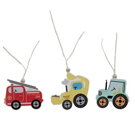 Set of 12 Illustrated Trucks Gift Tags