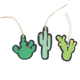 Set of 12 Colourful Cactus Gift Tags