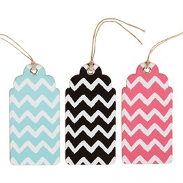 Set of 6 Chevron Gift Tags