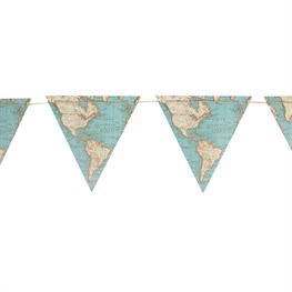 Vintage Map Paper Bunting