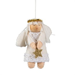 Pixie Angel Holding Star Hanging Decoration