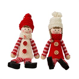 Sitting Knitted Dolls - 1 Piece