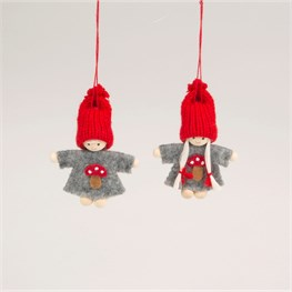 Pixie Doll Toadstool Hanging Decoration - 1 Piece