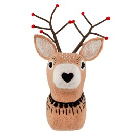 Winter Forest Folk Deer Wall Decoration