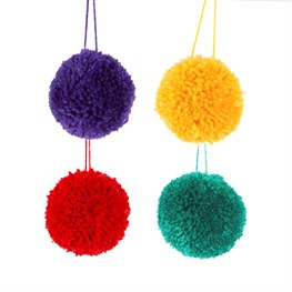 Christmas Fun Pom Poms - Set of 4