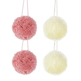 Wonderland Pastel Pom Poms - Set of 4