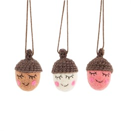 Happy Acorns Hanging Decorations - Set of 3