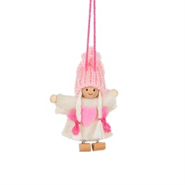 Berta White Dress Doll Hanging Decoration