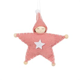 Pink Pixie Star Doll Hanging Decoration