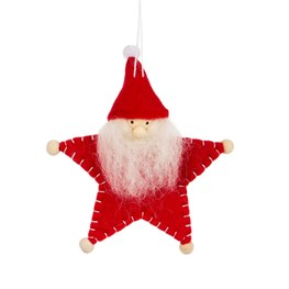 Woolly Star Santa Hanging Decoration