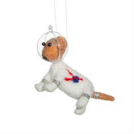 Outer Space Dog Hanging Felt Decoration